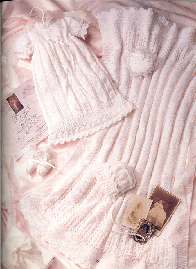 4 Stunning Knit Crochet BABY CHRISTENING Patterns Bk Gown ...